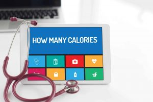Calorie count chart showing HEALTH CONCEPT: HOW MANY CALORIES