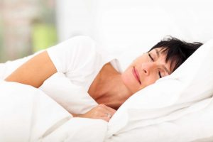 mûrir, femme, dormir, lit