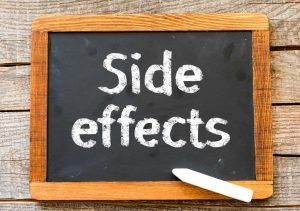chalkboard showing side effects of sarms