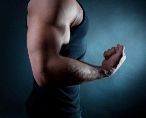 Man showing his biceps on sustanon